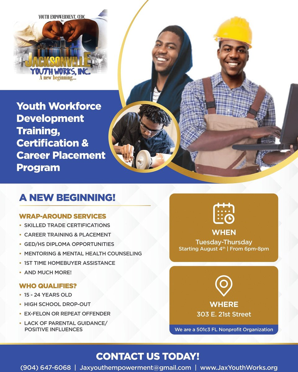 Jacksonville Youth Works Jaxyouthworks20 Twitter