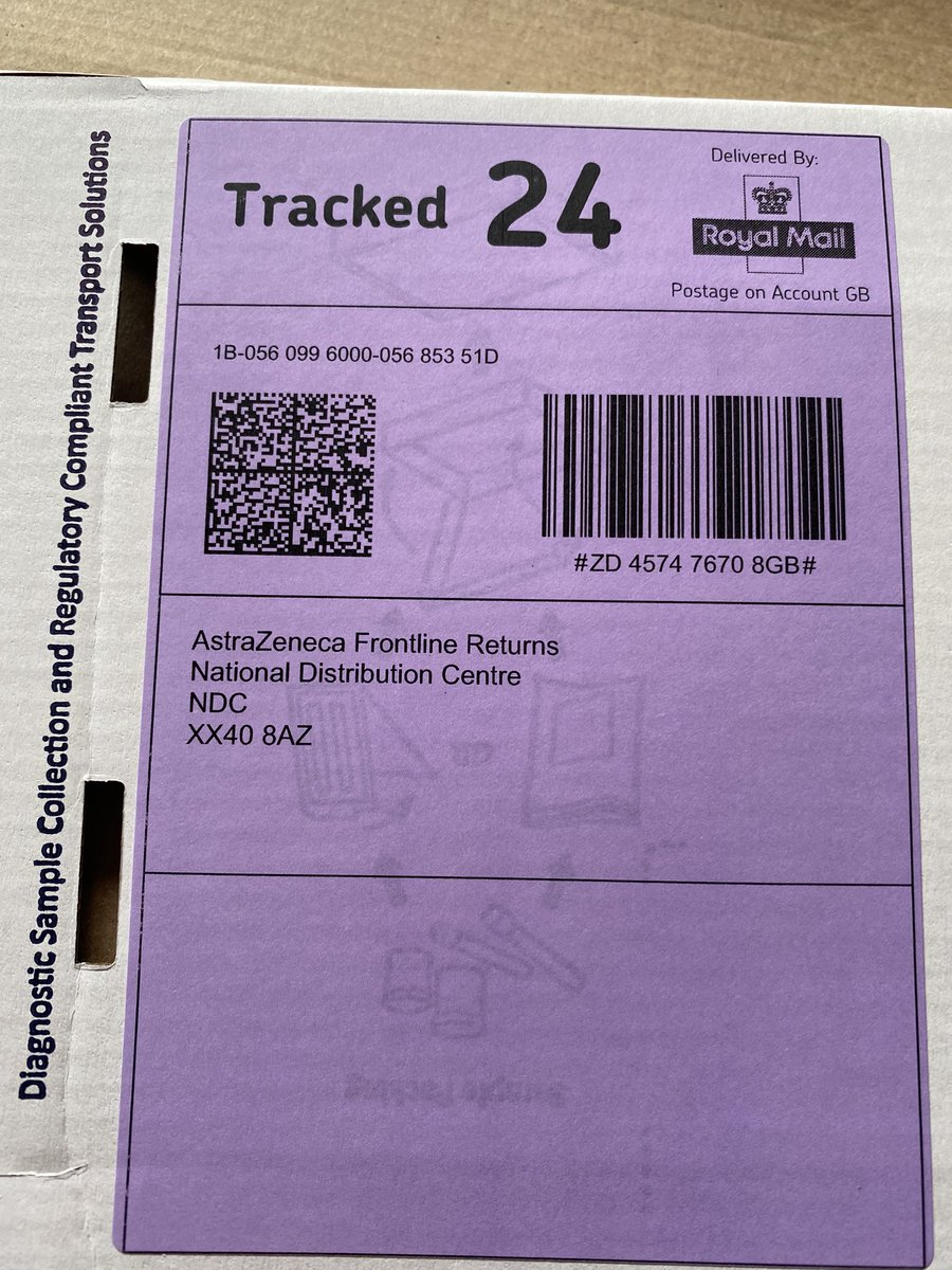 Mr Postman On Twitter Received My Coronavirus Kit Today Astrazeneca Though Didn T Know They Was Involved In Any Of The Tests Yet Heard They Mentioned Getting Involved With The Vaccine Though Covid