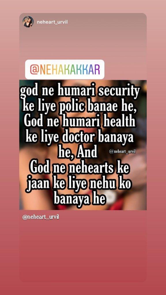 It is absolutely right ___@iAmNehaKakkar #nehearts #nehakakkarlovers #nehakakkarfans pic.twitter.com/x5BuzmVsPc