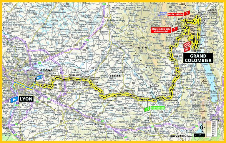 Carte etape Grand Colombier