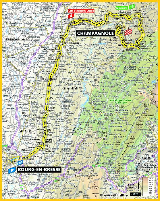 Carte Champagnole