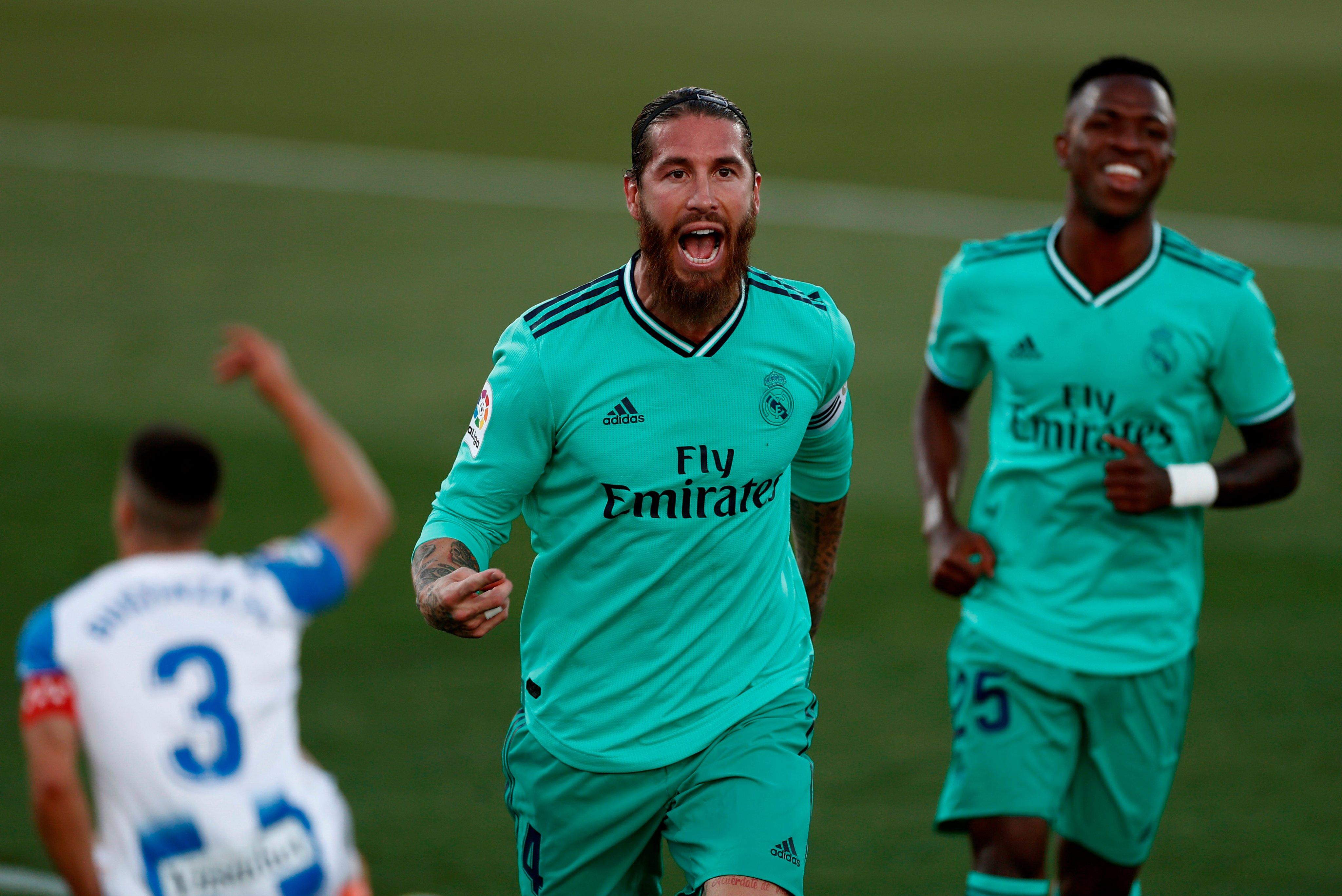 Sergio Ramos celebrando su gol (Foto: LaLiga).
