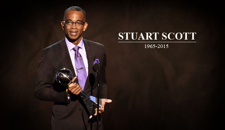 """""""Life consists of two dates with a dash in between. Make the dash count!"""" - Stuart Scott.  Happy Birthday Stuart Scott. You are deeply missed. #ESPN #ESPYS https://t.co/stwRAhTXLF"""