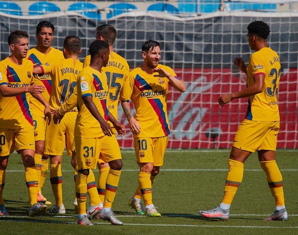 Buena victoria.  Vamos @FCBarcelona 💪🏽🔴🔵