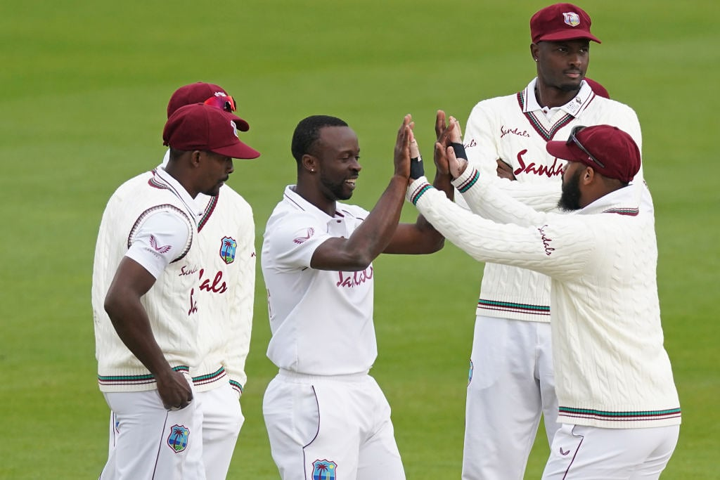 The very West Indies, who roared at Ageas Bowl, looked out of sorts at Old Trafford. (Credits: Twitter/ West Indies Cricket)