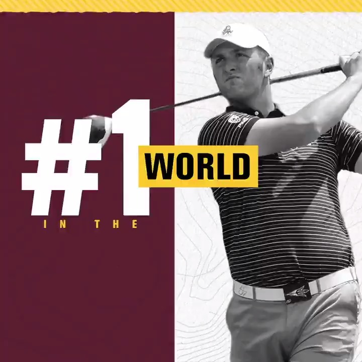 No. 1 in the 🌎 Congrats to @SunDevilMGolf alum @JonRahmpga!