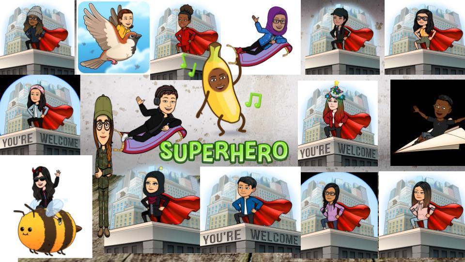 Grade 7 students' SuperHero emojis! @TWPublicSchool Spirit Day!  @MauroPaluzzi @TDSB_ConEd @LC3_TDSB