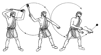 2. Kshepni (क्षेपणी) It was a type of sling used to throw stones projectiles over a large distance. Size of sling used at that time is unknown, it is possible it was used to throw large stones