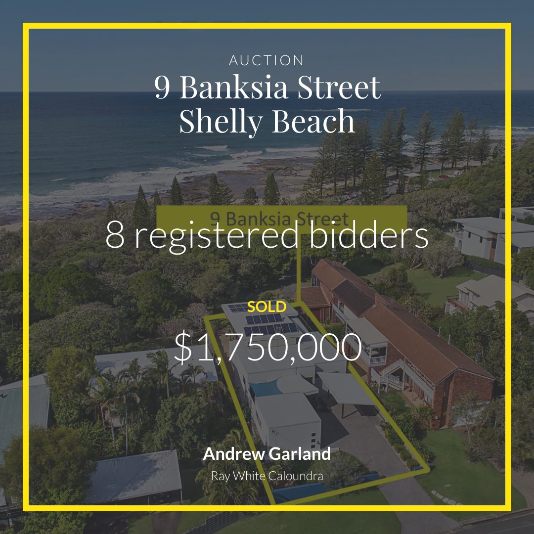 Going, going - gone!   #SOLD UTH for $1,750,000 with multiple bidders registered Yet another cracking Auction result  http://ow.ly/fECe50ACud3 #raywhitecaloundra #competitioncreators #shellybeach pic.twitter.com/R3VyYQAIrW