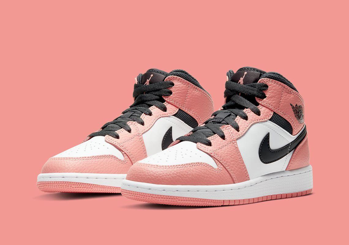 Jordan 1 Mid GS Pink Quartz RESTOCK