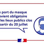 Image for the Tweet beginning: Attention, le port du masque