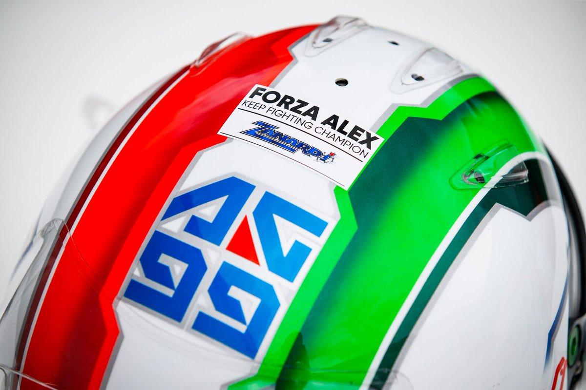 L'ho scritto sul casco, ma lo porto nel cuore ❤️ #ForzaAlex https://t.co/AD7LIODKec