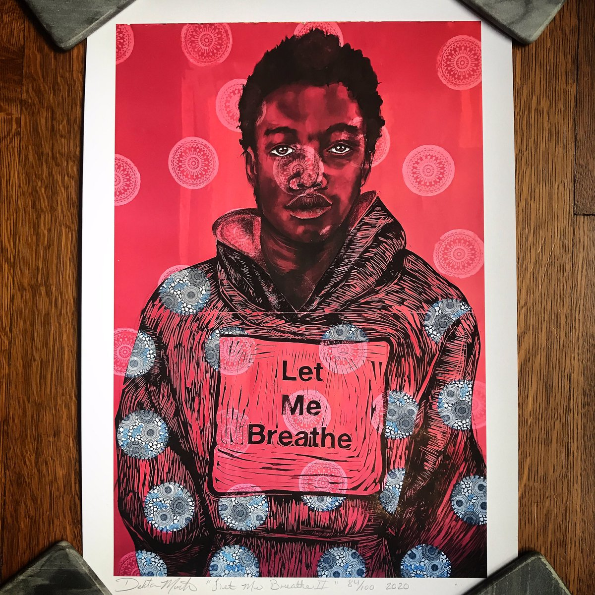 "Stunning! Thx @DelitaMartin / @blackboxpress for ""Let Me Breathe."" So honored to have had a chance to purchase this art as protest & to support the Art as Activism fund. Can't wait to see it on the wall. #DelitaMartin #BlackBoxPresss #ArtasActivismFund #blackartcollectors pic.twitter.com/8KNog7i7Qo"
