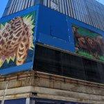 元アニメイト新宿の看板の下には、ライオンとキリンの胴体が存在していた!