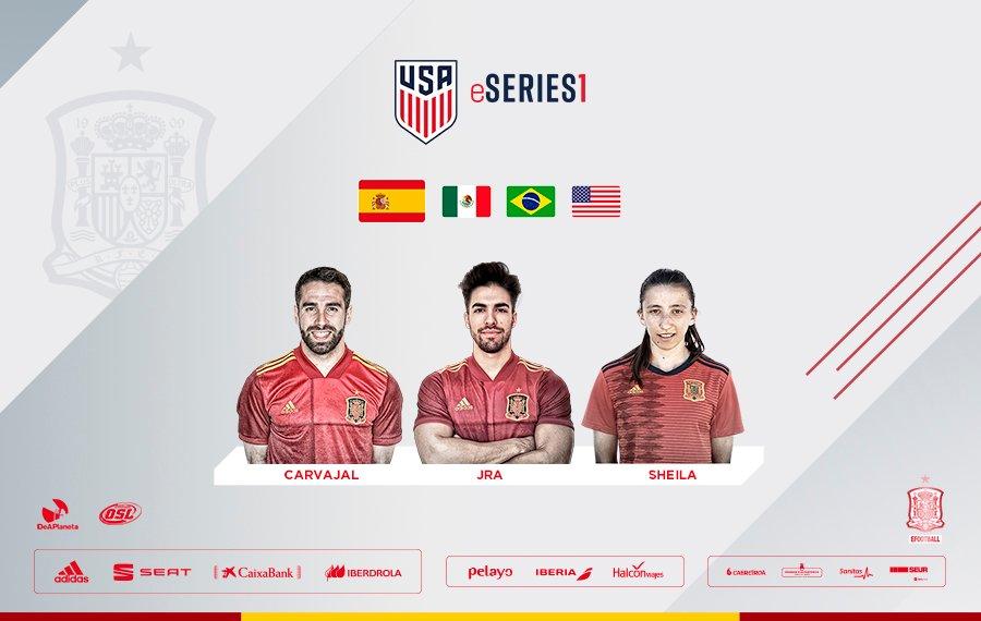 🎮 ¡Vuelve la #eSeFutbol!  🔝 Y ojo que lo hacemos con 3️⃣ súper cracks: @DaniCarvajal92, @Sheigarcia10 y @JRA10 🔝  🏆 #FIFA20eSeries 🆚🇧🇷🇲🇽🇺🇸 🗓️ 21/07 🕔 17h. 📺  🎙️ Saúl Ramos, @hectorubio, @Dani_Merono y @Celmor   ℹ️ Más info: