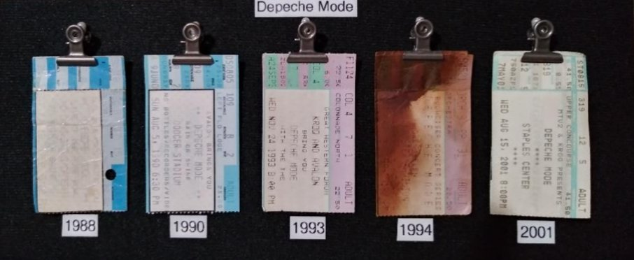 "Hey @SluggoDoug Here are just a few from the early days. I'm missing 87"" unfortunately my date didn't hand it over.. and sorry about the 4th one could be soda, could be beer.. Who remembers.. But I still kept the ticket 🎶🎶"