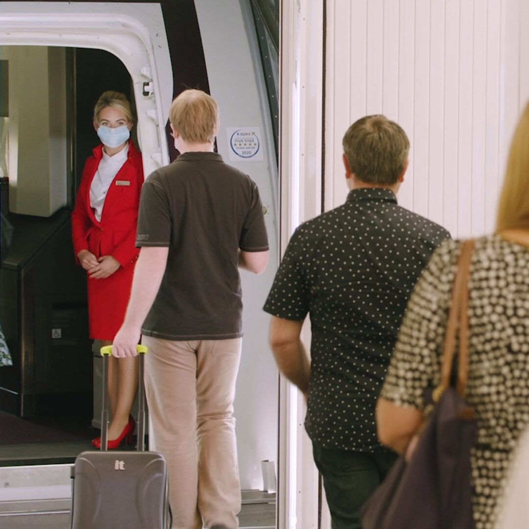 We can't wait to take you back to the skies. We've introduced lots of extra measures to keep you safe and sound as you leave the ground. From face masks and enhanced cleaning to a redesigned food service and social spacing on board, you're in safe hands: https://t.co/GLIDVwyuzo https://t.co/phgiSL4yKW
