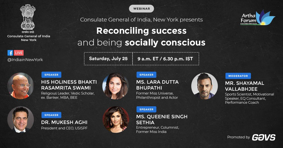Great Event on 25th July @ 9 am by @IndiainNewYork speakers include @shayamalv @LaraDutta @QueenieSinghh @MukeshAghi
