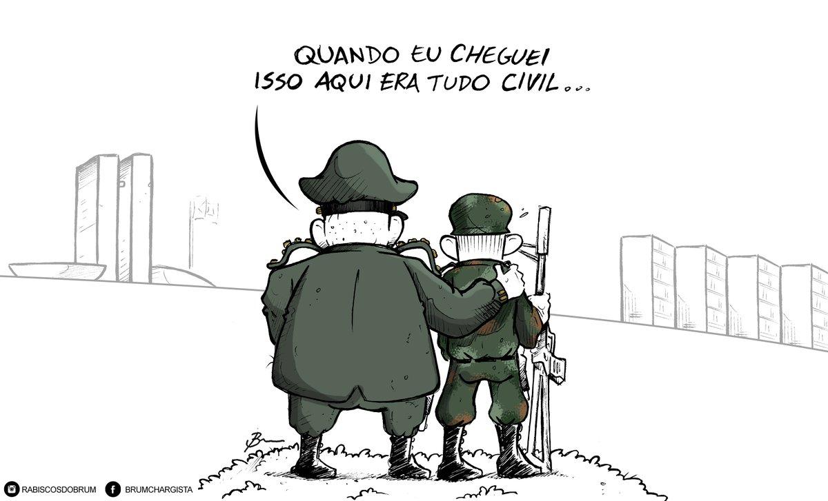 "Brum ar Twitter: ""Charge da Tribuna do Norte #brum #charge  #chargespoliticas #governobolsonaro #militares #militarizacao #cargoscivis  #governomilitar… https://t.co/YtEITkGx1f"""