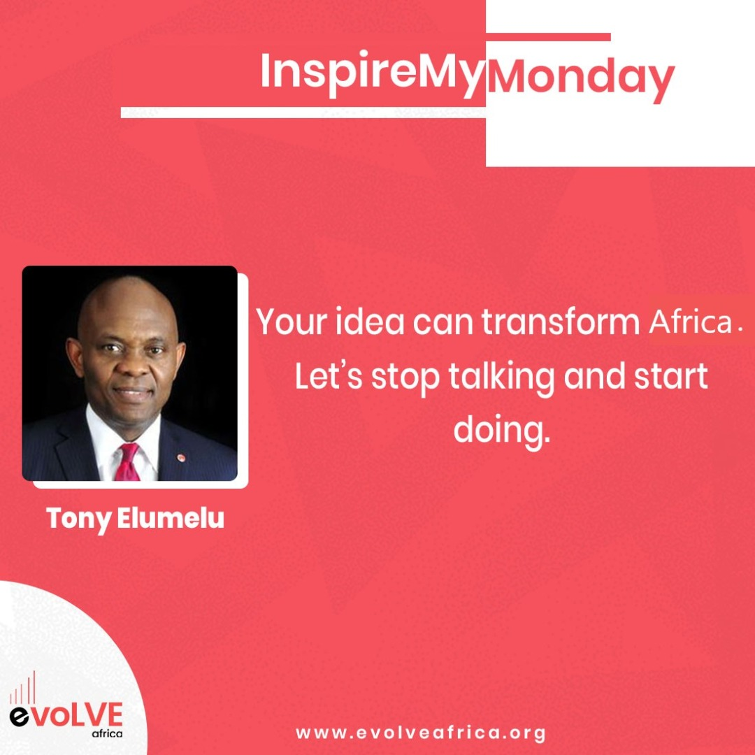 As an entrepreneur, it is easy to think talking about something is the same thing as doing it but most successful entrepreneurs act more on their ideas than talk about it. #EvolveAfrica #GrowthMindest #Entrepreneur #TonyElumelu #Africa #MCM #MondayMotivations https://t.co/WwZ6pKrt6t