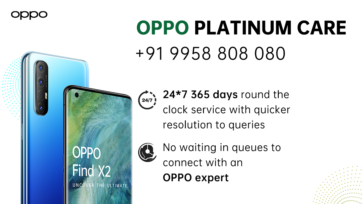 Who doesn't love quick resolution? We're bringing you just that 😉 OPPO #𝗣𝗹𝗮𝘁𝗶𝗻𝘂𝗺𝗖𝗮𝗿𝗲 is here! Get your queries resolved right away. Here's how 👇 https://t.co/UkknLqjhAE