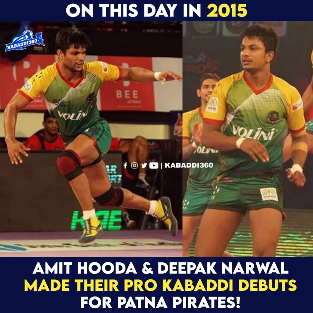 Last season's JPP players - Amit Hooda and Deepak Narwal made their PKL debut from Patna Pirates!   #AmitHooda #DeepakNarwal #Kabaddi360 #PatnaPirates #Debut