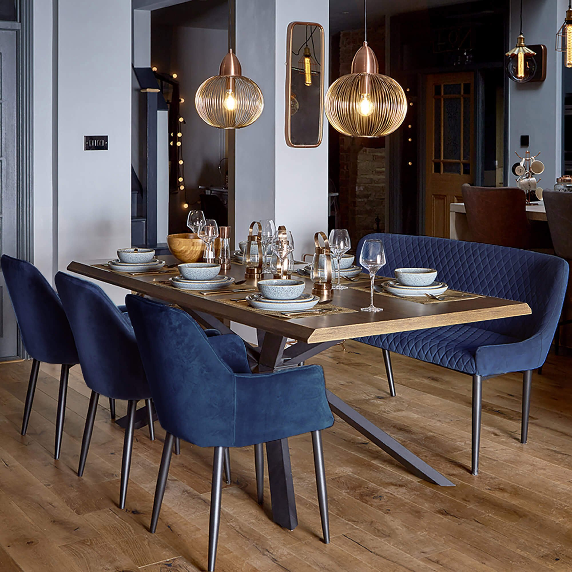 Housing Units On Twitter A Must Have For The Host With The Most The Bronx 200cm Dining Table Bench 3 Blue Chairs Is A Stunning Addition To Any Dining Space Sale Now