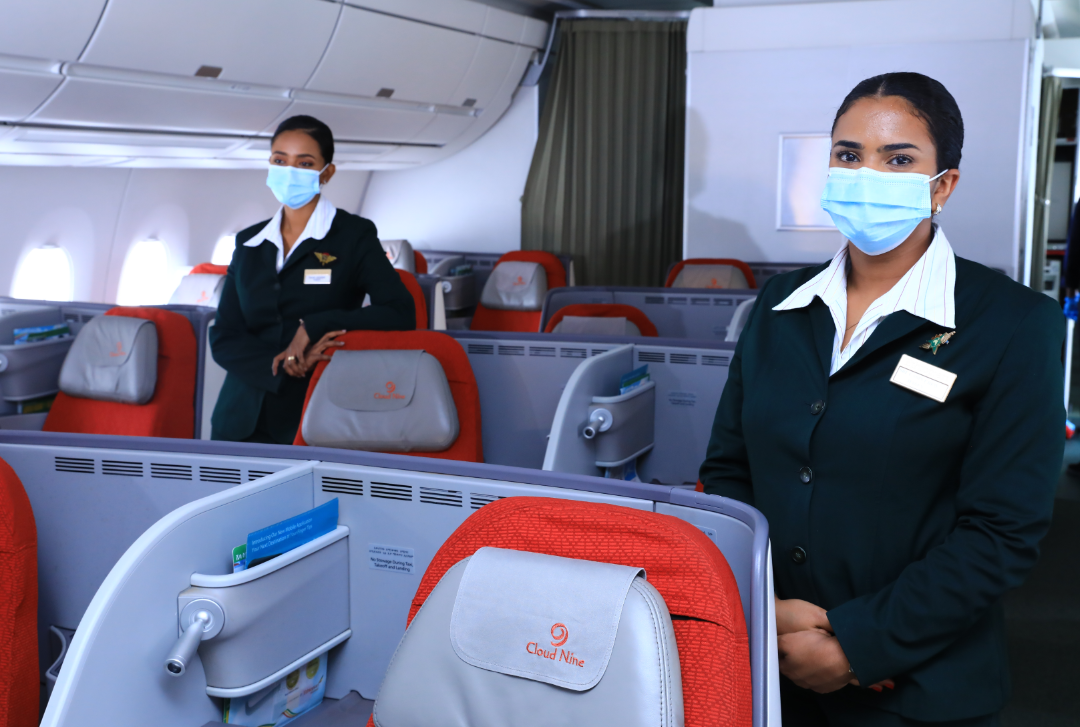 """Ethiopian Airlines on Twitter: """"We are welcoming passengers on board our  flights with enhanced safety measures in place. #Flyethiopian  #FlyWithConfidence… https://t.co/zoXLDHslXR"""""""