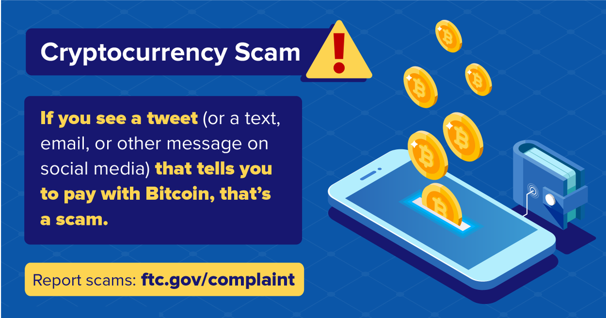 Avoiding a cryptocurrency scam: go.usa.gov/xfK32