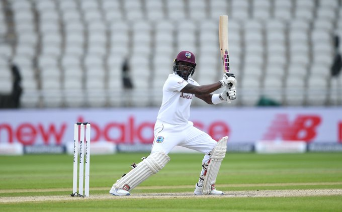 Jermaine Blackwood once again scored a half century but failed to make it big. (Credits: Twitter/ West Indies Cricket)