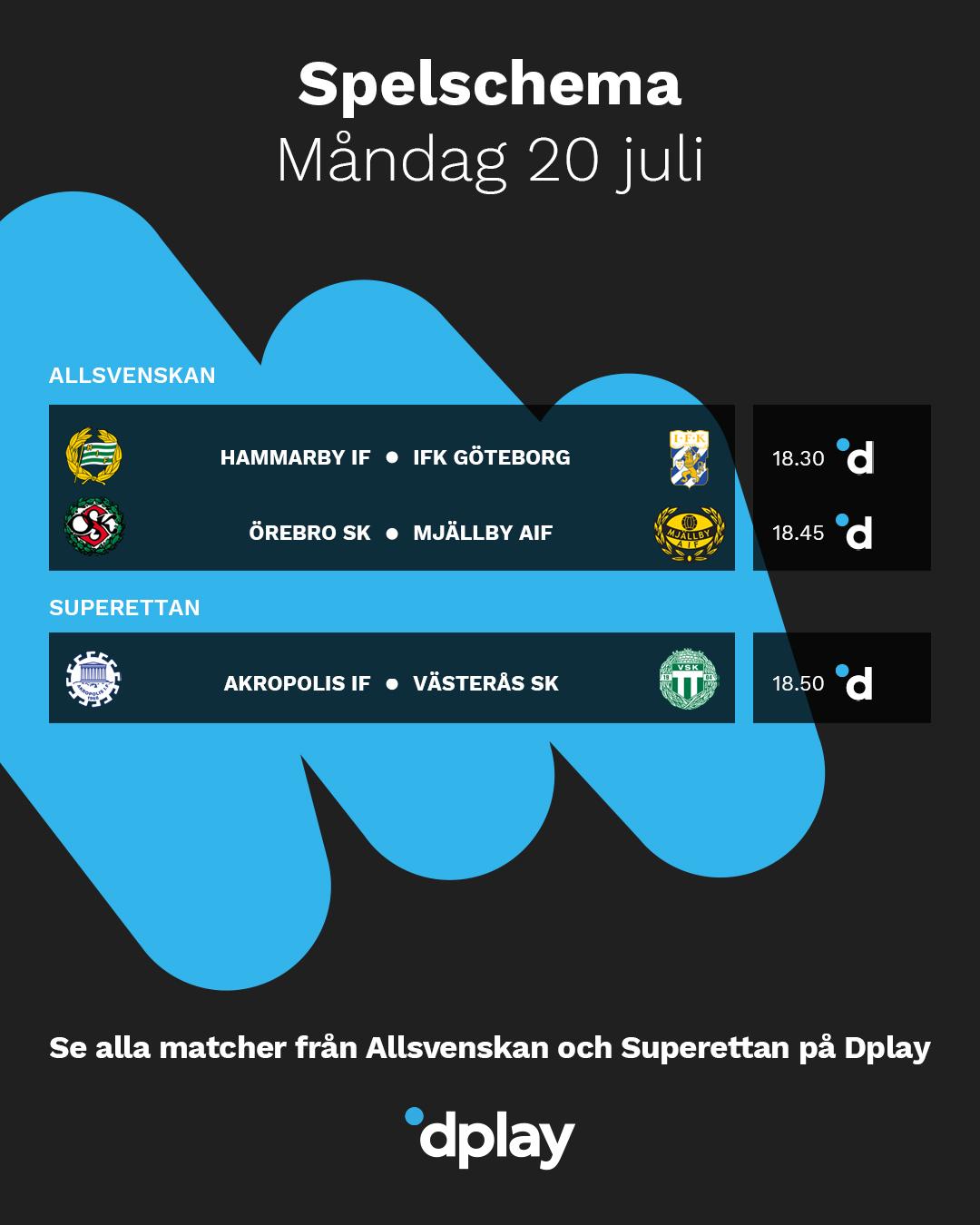 Dplay Sport En Twitter Dagens Matcher Fran Allsvenskan Och Superettan