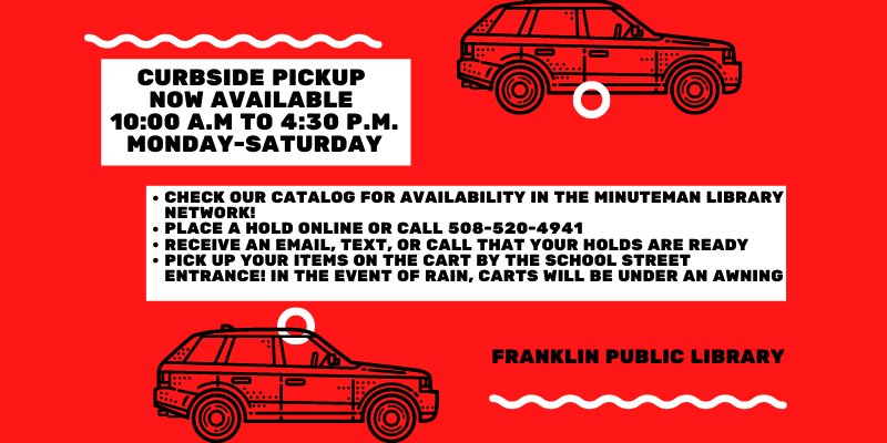 Franklin Public Library: curbside pickup hours changed slightly