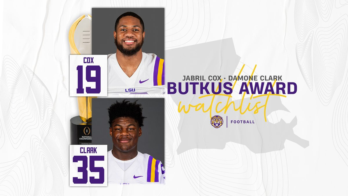 Jabril Cox and Damone Clark are on the Butkus Award watch list! https://t.co/VCdk3hMwyh