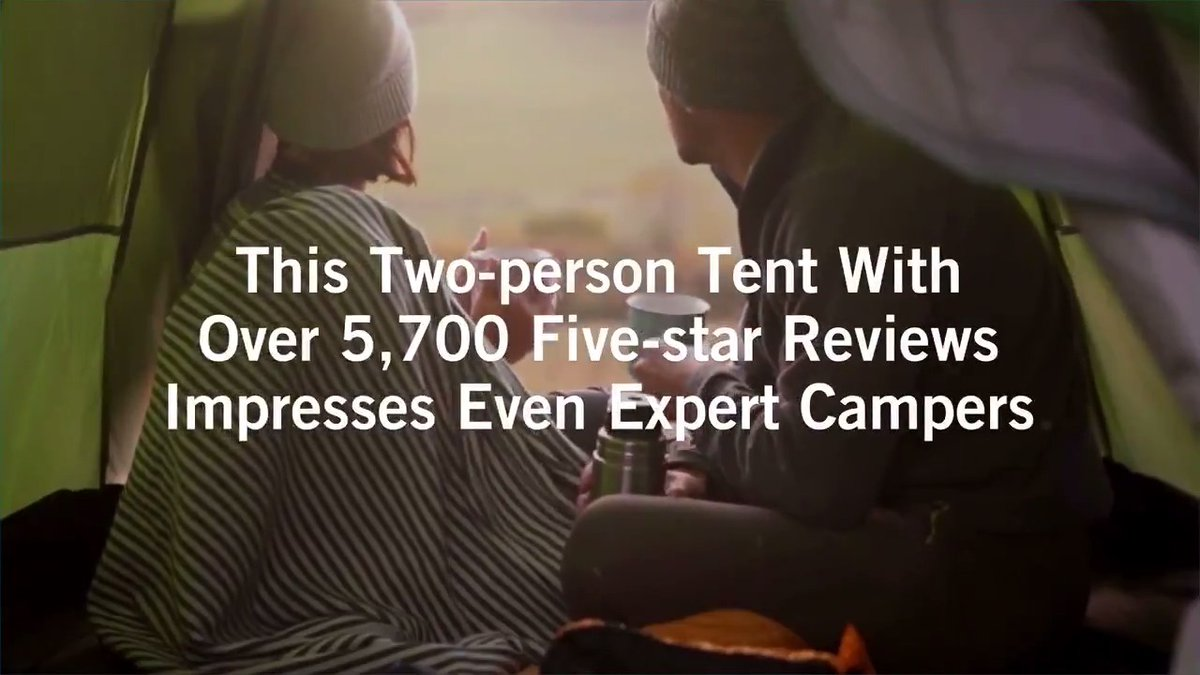 Image for the Tweet beginning: This two-person tent has over