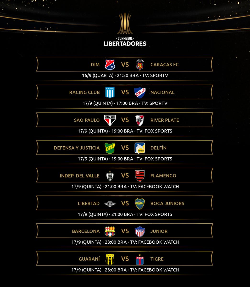 Conmebol Libertadores On Twitter A Tabela Da Quarta Rodada Da Fase De Grupos Da Libertadores Confira As Datas E Jogos Dos Clubes Que Lutam Pela Gloriaeterna Https T Co Qm1vhbbgf2