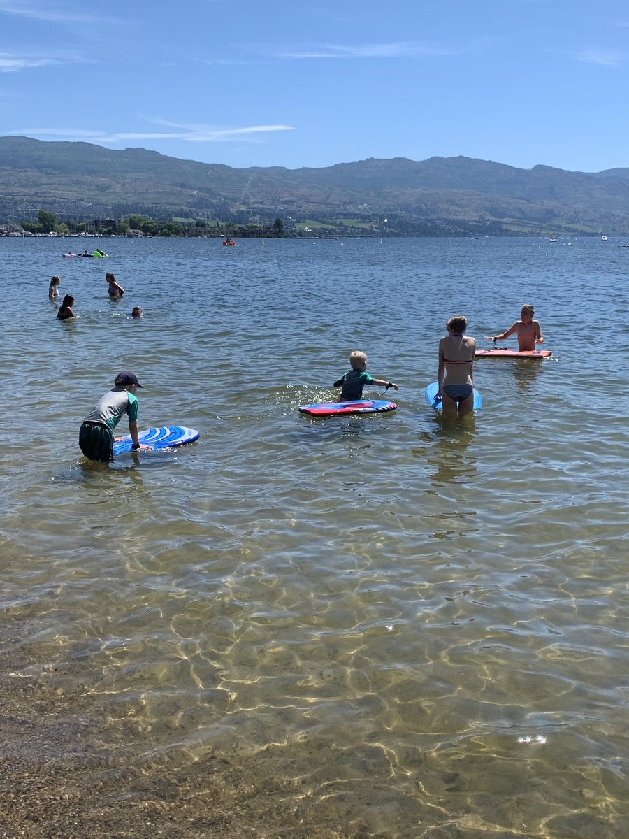 Doesn't get much better than summer in the Okanagan. ☀️ 🏄 🏖
