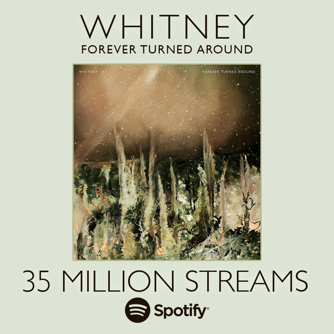 Thanks for getting Forever Turned Around to 35 million streams on @Spotify! 🧡 whitneytheband.live/spotify