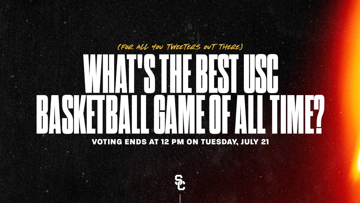 We want to hear your voice!  What's the best USC basketball game of all time? https://t.co/vT7FVXp5lq