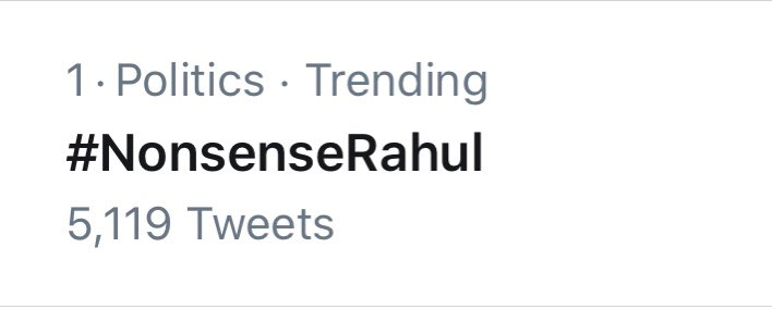Henceforth Rahul has proved that he's the most eligible candidate for being Congress' National President  #NonsenseRahul is uncontested numero uno Congratulations 🥂 https://t.co/an22MG5KQH