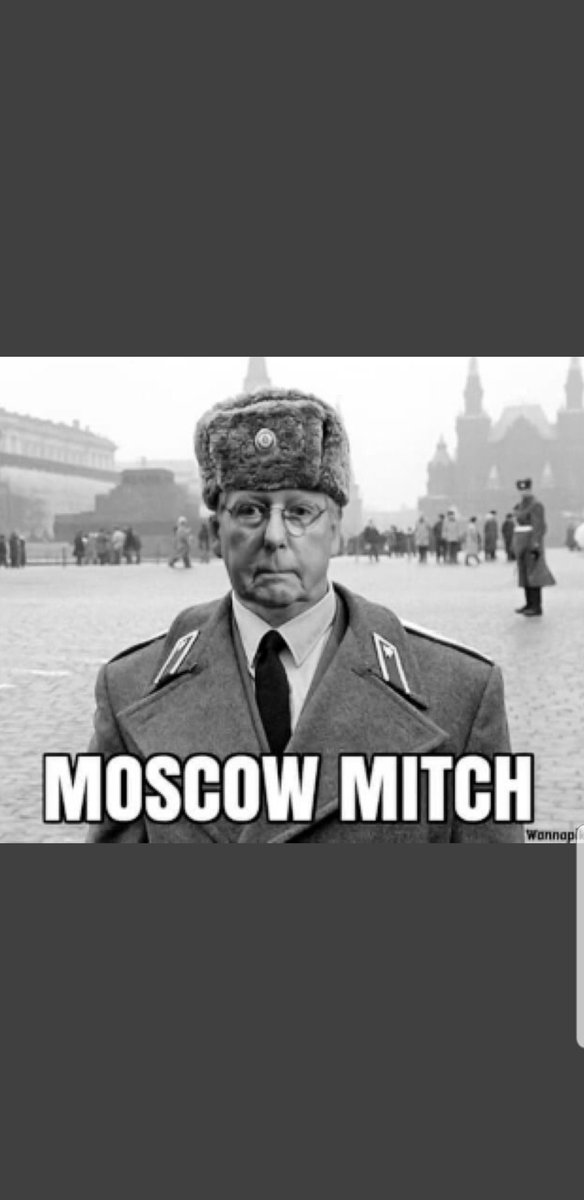 Hahaha ... look at this unbecoming assh*le !!!  What a complete sad, incompetent and useless individual.    #MoscowMitch  #COVIDIOTS https://t.co/vNGeZD0cwM