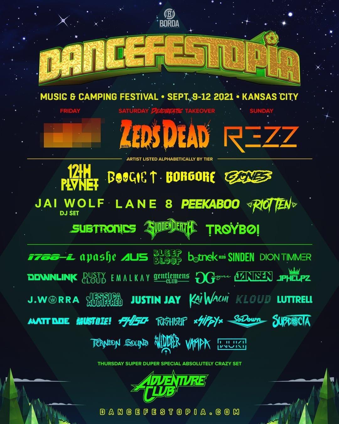 Dancefestopia lineup 2021