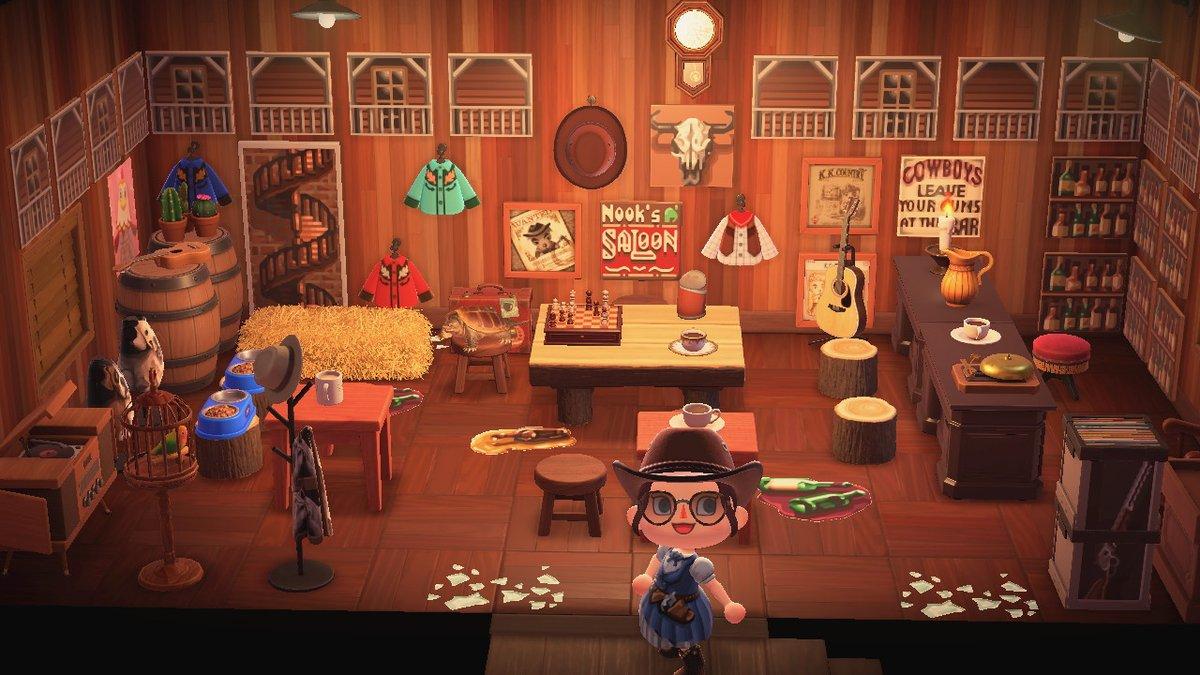 new western saloon!! #western #saloon #mydesign #マイデザイン #どうぶつの森 #AnimalCrossing #ACNH #NintendoSwitch