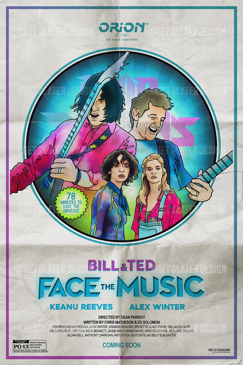Had a blast creating this retro poster rework for @OrionPictures upcoming movie @BillandTed3. Looking forward to the release and watching Keanu Reeves and Alex @Winter save the universe with some serious guitar skills! @Sweaving #BillandTedFaceTheMusic #retro #beenwaiting19yearspic.twitter.com/VzARufKcHd