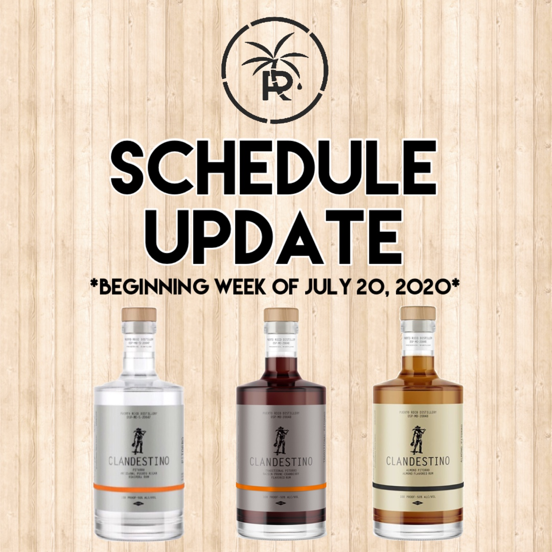 Quick update on the PRD schedule! Saturdays are Delivery Days so feel free to place your orders in advance. Mondays & Tuesdays we're closed 👍🏼 •⠀ #PRDMD #pitorro #frederickmd #mdspirits #maryland #dmv #howardcounty #farmersmarket #familybusiness #boricua #newschedule https://t.co/AQuSGvfgu7