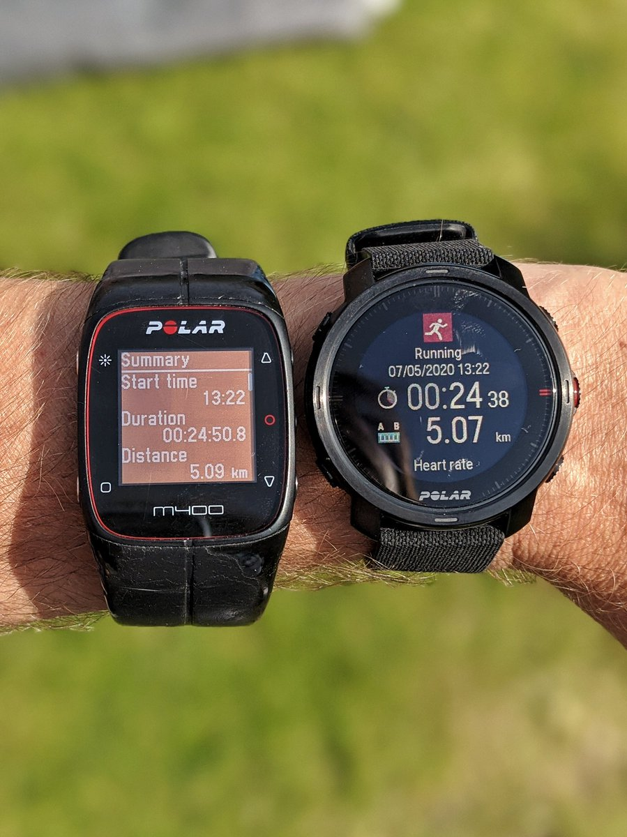 @PolarGlobal I replaced my very trusty M400 with the Grit X.  Both have been awesome. #M400 #PolarGritX https://t.co/dPXJUkaqEg