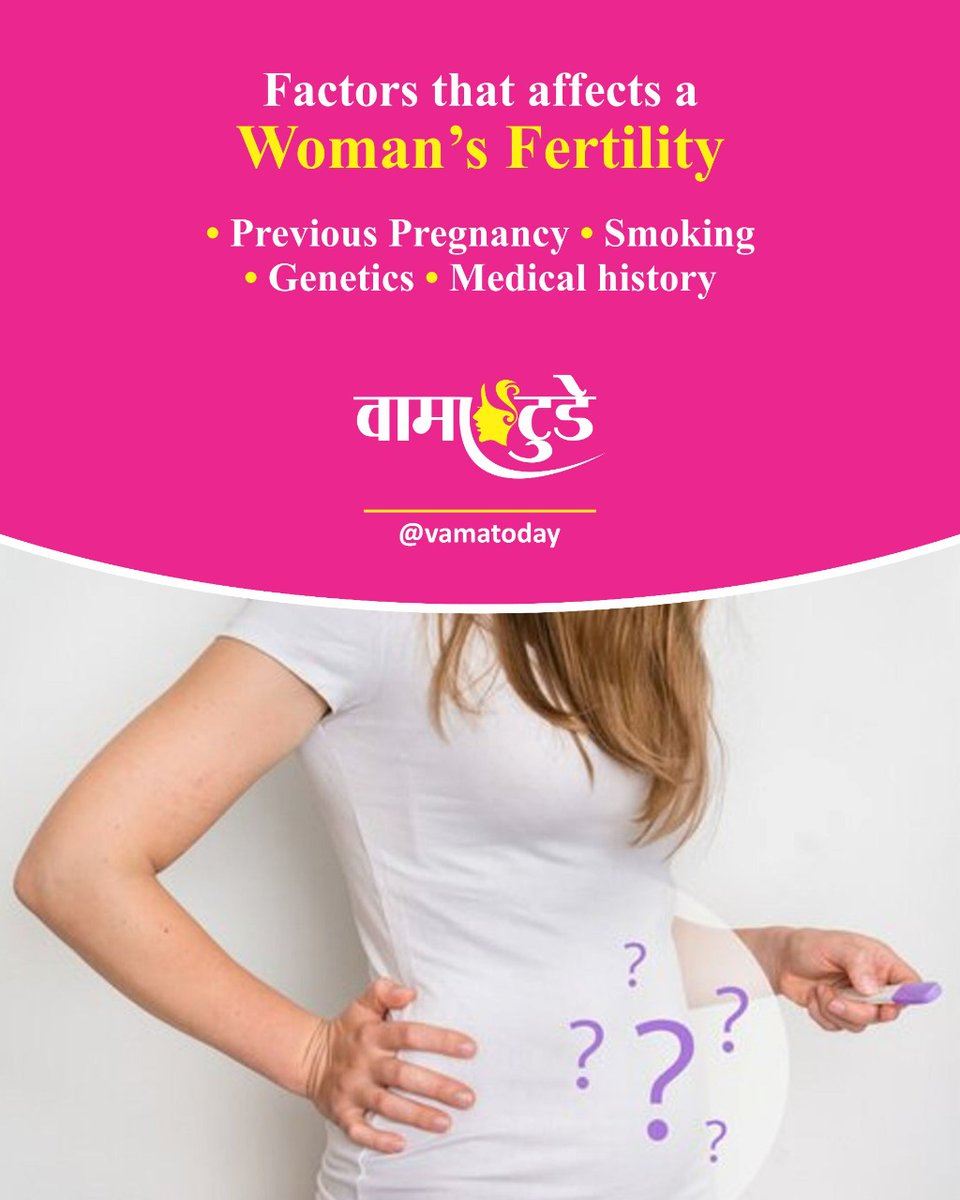 You May Not Be Looking To Get Pregnant Right Now, But It's Important To Understand What Can Affect Your Success If You Do Decide You Want To Start A Family—And What You Can Do Now To Prepare. The Top 4 Factors That Affect A Woman's Fertility. . . . #vamatoday #nirogdarpan pic.twitter.com/5ScB12gjG6