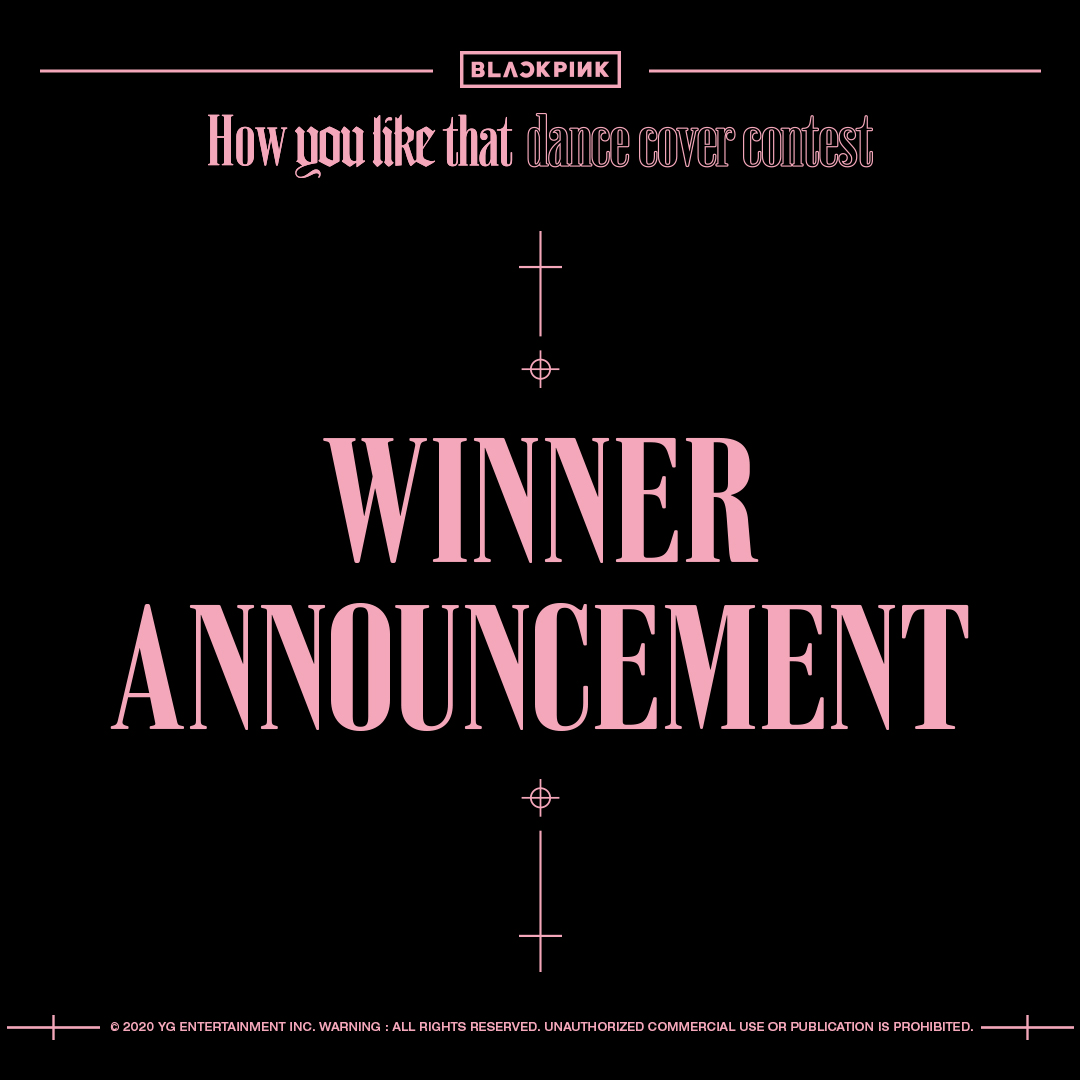 [@BLACKPINK 'How You Like That' DANCE COVER CONTEST WINNER ANNOUNCEMENT] notice has been uploaded ➡️ facebook.com/BLACKPINKOFFIC… #BLACKPINK #블랙핑크 #HowYouLikeThat #HYLT_Dancecovercontest #WINNER_ANNOUNCEMENT #YG
