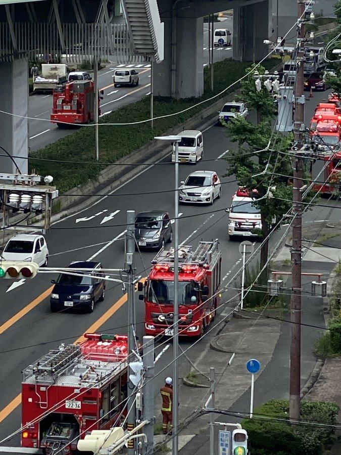 うな富士から出火した火災現場の画像