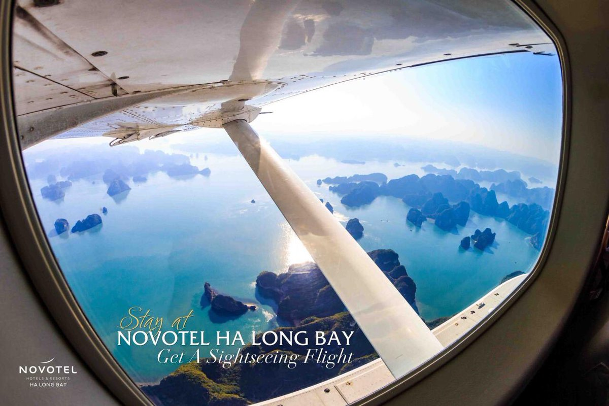 #HaLongBay would be much different with a bird's eye view from the sky. From now to end of September, level up your stay with our upscale package from only 1,800,000 VND/gúet. Terms and conditions apply, please contact for more details: Email: info@novotelhalong.com.vn https://t.co/xzDrBvgjvV