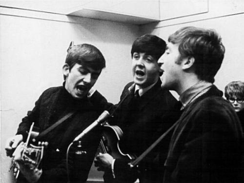 George Harrison Paul McCartney John Lennon The #Beatles